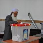 حضور مولانا گرگیج در پای صندوق رأی