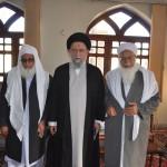 دیدار شیخ التفسیر مولانا گرگیج با آیت الله نورمفیدی نماینده ولی فقیه در استان گلستان